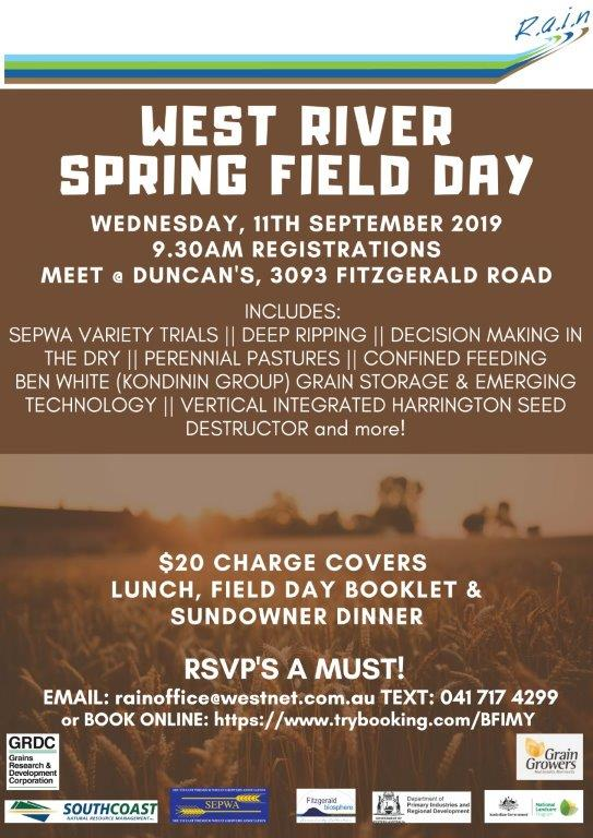 RAVENSTHORPE SPRING FIELD DAY Rev 2
