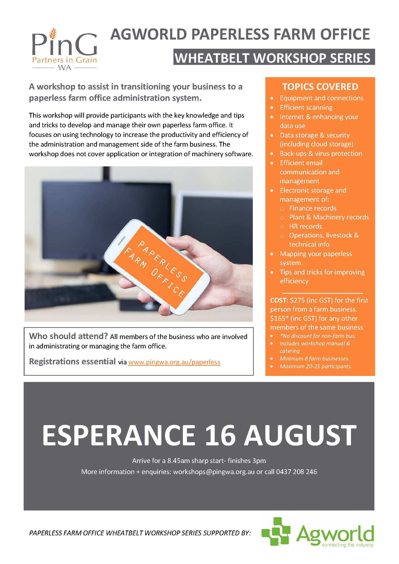 2018 Paperless flyer ESPERANCE 1