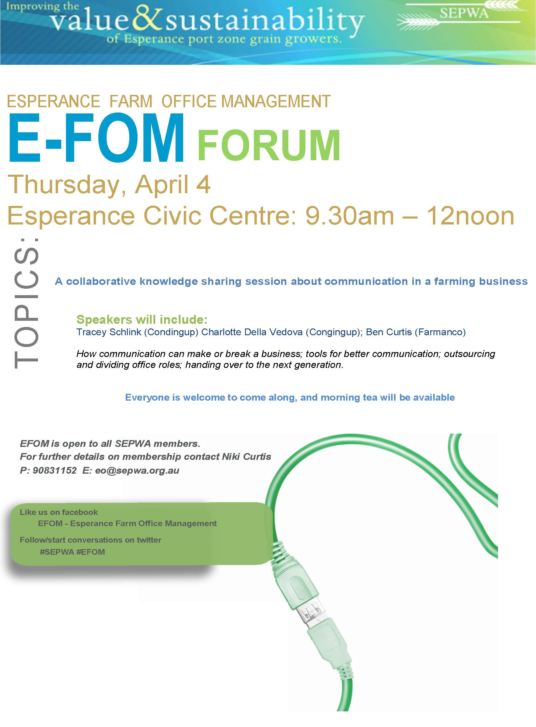 EFOM Forum April 2019